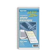 """Rediform Phone Message Pad, 3"""" x 6"""", Unruled, White/Blue, 100 Sheets/Pad (50750)"""