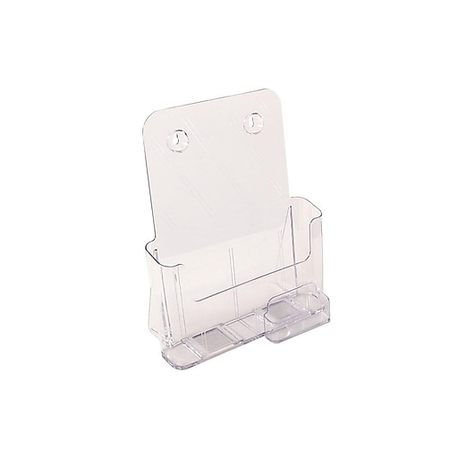 "FFR Excelsior Literature Holder, 10.75"" x 9.13"", Clear Plastic, 2/Pack (9307994143)"