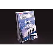 """FFR Excelsior Literature Holder, 10.75"""" x 9.13"""", Clear Plastic, 2/Pack (9307994143)"""
