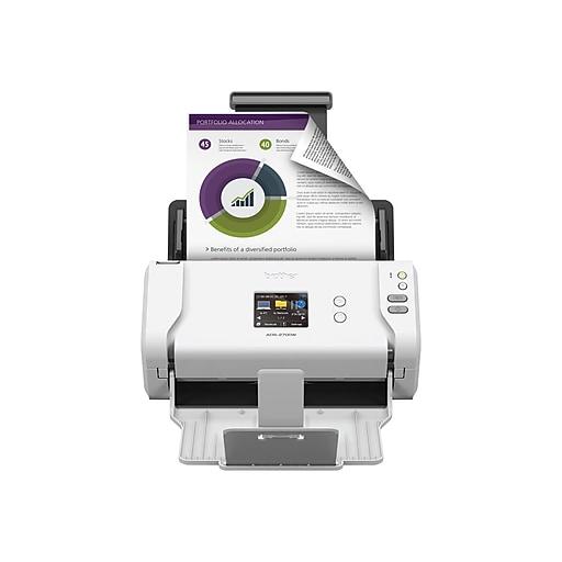 Brother ADS-2700W Wireless Desktop Scanner, White