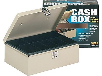 MMF Industries STEELMASTER Cash Box, 7 Compartments, Beige (221612003)