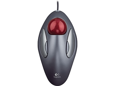 Logitech Trackman Marble 910-000806 Optical Mouse, Dark Silver