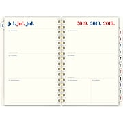 "2019-2020 Emily & Meritt  5 1/2"" X 8 1/2"" Weekly/Monthly Planner, 12 Months, July Start, Split Stripe (Em204-200a-20)"