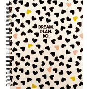 "2019-2020 AT-A-GLANCE 8 1/2"" x 11"" Weekly/Monthly The Scattered Hearts Planner (EM204-905A-20)"