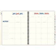 "2019-2020 Emily & Meritt 8 1/2"" X 11"" Monthly Planner, Pop Color Polka Dot, 12 Months, July Start  (Em201-900a-20)"