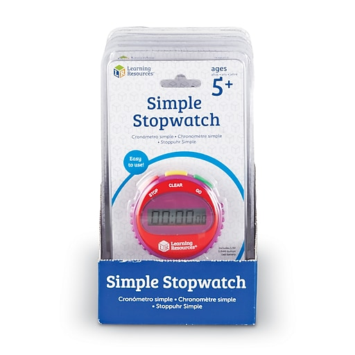 Learning Resources® Simple Stopwatch, 6/Set (LER0809)
