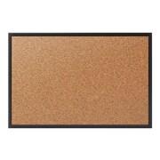 Staples Standard Durable Cork Bulletin Board, Black Frame, 2'W x 1.5'H (28673-CC)