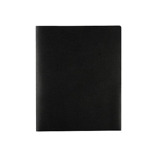 Staples® Poly 2-Pocket Folders, Black
