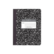 "Roaring Spring Composition Notebook, 9.75"" x 7.5"", Wide Ruled, 100 Sheets, Marble Black (77230)"
