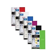 """Five Star 2-Subject Notebook, 6"""" x 9.5"""", College Ruled, 100 Sheets, Assorted (06180)"""