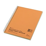 """National Brand 1-Subject Notebook, 8"""" x 10"""", Narrow Ruled, 80 Sheets, Brown (33008)"""