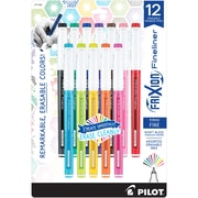 Pilot FriXion Fineliner Erasable Marker Pens, Erasable Ink Pen, Fine Point, Assorted Ink, 12/Pack