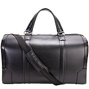 McKlein Carry-all Duffel, Kinzie, Top Grain Cowhide Leather, Black (88195)