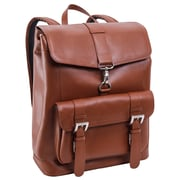 Mcklein Laptop Backpack, Hagen, Top Grain Cowhide Leather, Brown (88024)
