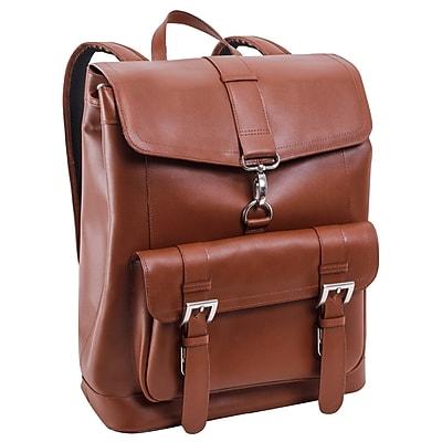 Mcklein Laptop Backpack, Hagen, Top Grain Cowhide Leather, Brown (88024)