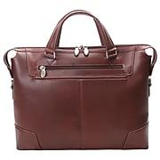 Mcklein Leather Slim Laptop Briefcase, Arcadia, Top Grain Cowhide Leather, Brown (88764)