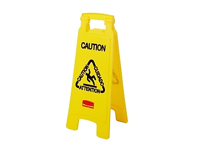 Rubbermaid Commercial Products Safety Awareness Floor Sign, Yellow (FG611200YEL)