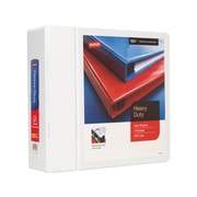 staples heavy duty 4 inch slant d 3 ring view binder white 24696