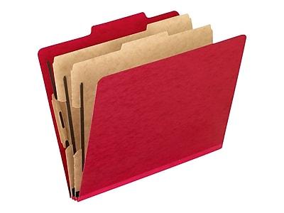 Pendaflex Paperboard Classification Folder, Letter Size, 2-Dividers, Scarlet, 10/Box (PFX1257SC)
