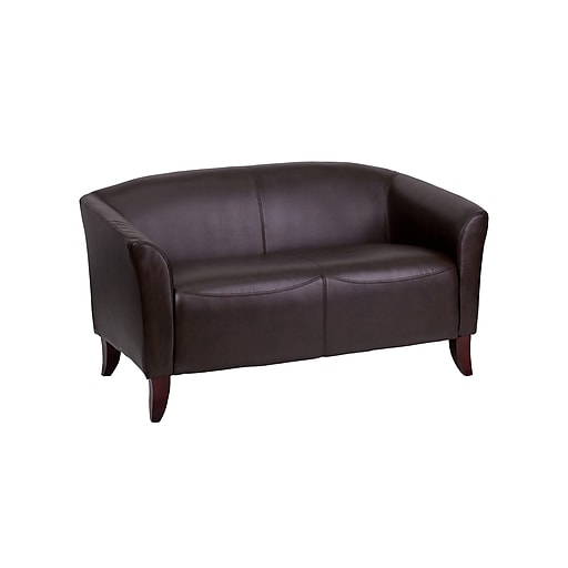 """Flash Furniture HERCULES Imperial Series 52"""" Faux Leather Loveseat, Brown (111-2-BN-GG)"""