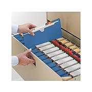 """Smead Paper Stock File Jackets, Reinforced Straight Cut Tab, 2"""" Expansion, Letter Size, Blue, 50/Box (75562)"""
