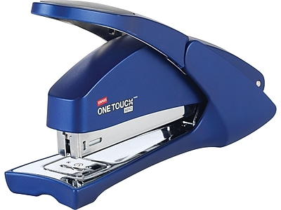 Staples One-Touch Aero Desktop Stapler, Full-Strip Capacity, Blue (23078)
