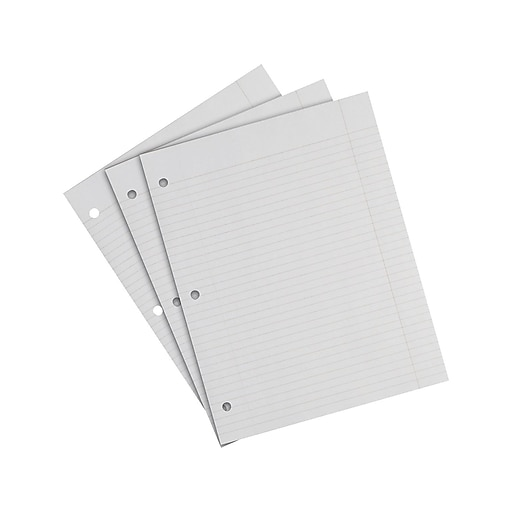 """Sustainable Earth by Staples College Ruled Filler Paper, 8.5"""" x 11"""", 200 Sheets/Pack (21700)"""
