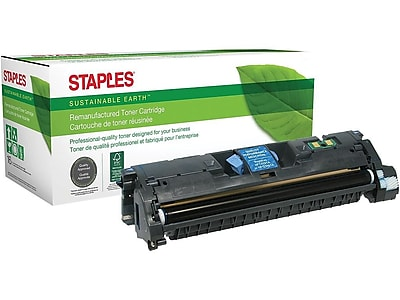Sustainable Earth by Staples SEB2500CR Remanufactured Cyan Toner Cartridge, Standard