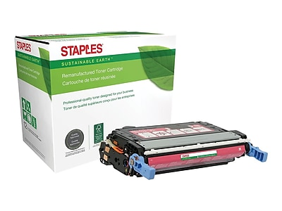 Sustainable Earth by Staples SEB4700MR Remanufactured Magenta Toner Cartridge, Standard