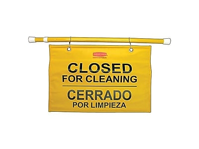 Rubbermaid Commercial Products Keep Away Hanging Sign, Yellow (FG9S1600YEL)