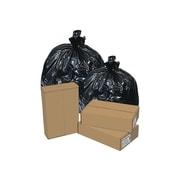 Brighton Professional 30-33 Gallon Trash Bags, 33x40, High Density, 22 Mic, Black, 25 Bags/Roll, 8 Rolls (Z6640WKER01)
