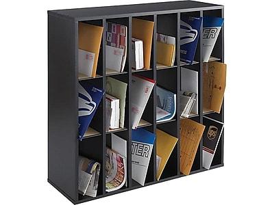 Safco 18 Compartment Mail Sorter, Black (7765BL)