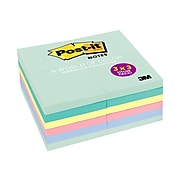 """Post-it® Notes Value Pack, 3"""" x 3"""", Marseille Collection, 24 Pads (654-24APVAD)"""