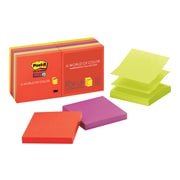 """Post-it Super Sticky Notes, 3"""" x 3"""" Marrakesh, 90 Sheets/Pad, 10 Pads/Pack (R330-10SSAN)"""