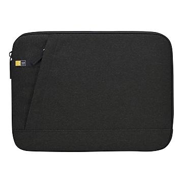 Case Logic HUXTON Polyester Laptop Sleeve for 13.3  Laptops, Black (HUXS-113-BLACK),Size: small