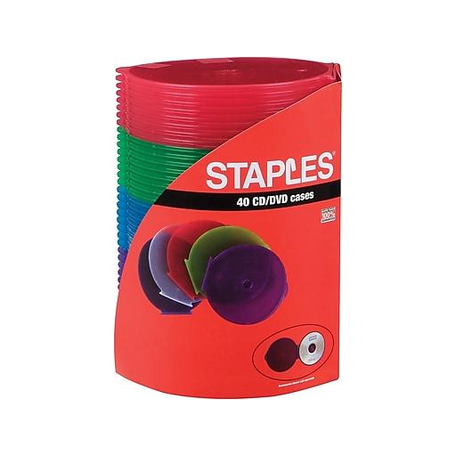 staples cd dvd roundcase storage 40 pack staples