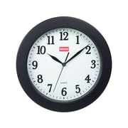 "Staples Wall Clock, Plastic, 10"" Dia. (32436)"