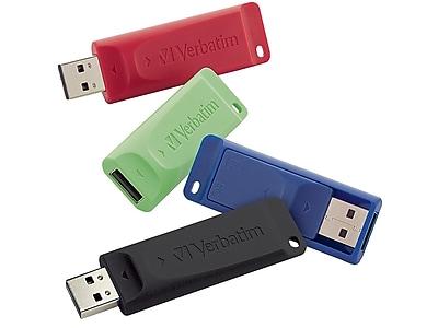 Verbatim Store 'n' Go 16GB USB 2.0 Flash Drives, 4/Pack (99123)
