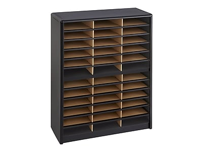 Safco Value Sorter 36 Compartment Literature Organizer, Black (7121BL)