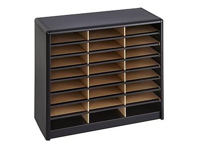 Safco Value Sorter 24 Compartment Literature Organizer, Black (7111BL)