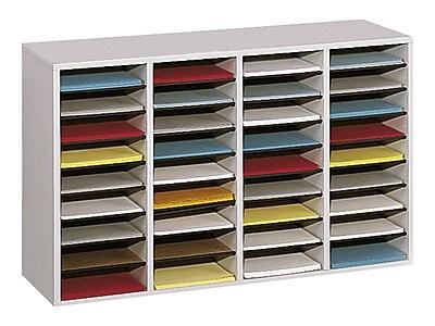 Safco 36 Compartment Literature Organizer, Gray (9424GR)