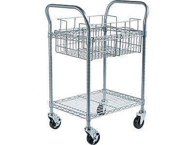 Safco Metal 2-Shelf Mail Cart (5235GR)