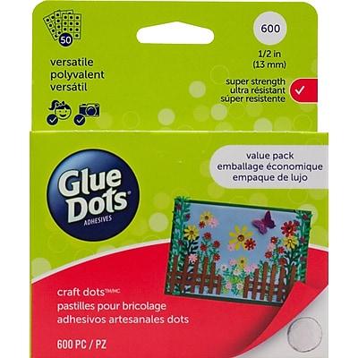 Glue Dots® Craft Dot Sheets School Value Pack, 600/Pack