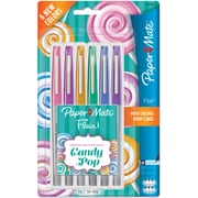 Sanford Paper Mate Ultra Fine Felt Tip Pens, Candy Pop Flair, Assorted, 6/Pack (1982366)