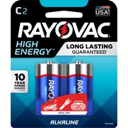 Rayovac C High Energy Alkaline Batteries, 2/Pack (814-2K)