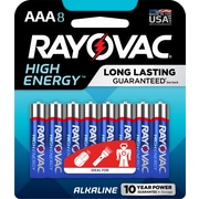 Rayovac AAA High Energy Alkaline Batteries, 8/Pack (824-8K)