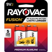 Rayovac 9V Fusion Premium Alkaline Batteries, 2/Pack (A1604-2T)