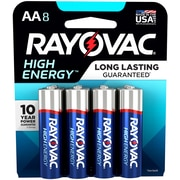 Rayovac AA High Energy Alkaline Batteries, 8/Pack (815-8K)