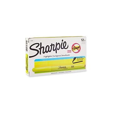 Sharpie Stick Highlighters, Chisel Tip, Yellow, Dozen (27025)