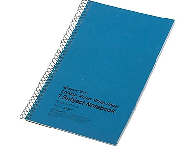 """National Brand 33-068 4 Each 11x8-7//8/"""" College Ruled Notebooks 80 Sheet"""